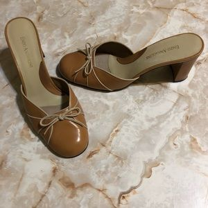 ENZO ANGIOLINI SLIP ON MULE SHOES WITH BOW